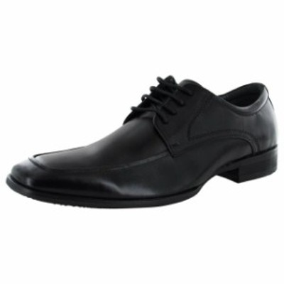 Madden メデン ファッション ドレスシューズ Steve Madden Syrcus Mens Lace Up Oxford Shoes Black Leather