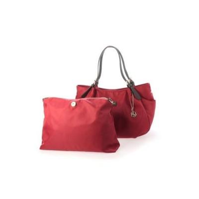 ベース BASE 【Bermosa】 インバッグポーチ付き シンプル レディーストートバッグ (ボルドー)