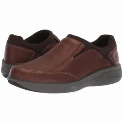クラークス ローファー Un Rise Step Mahogany Tumbled Leather