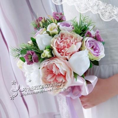 花嫁   ウエディングブーケ 造花 ブーケ 高級造花ブーケ 花嫁 造花 手作り  お嬢様ブーケ ウエディングブーケ 結婚式 贈り物 ブライダルブーケ 結婚式