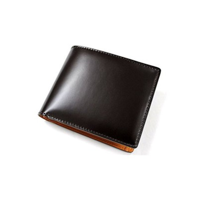 bell la bell(ベルラベル) 二つ折り 財布 コードバン [日本製] オールレザー メンズ財布 (小銭入れ付き)
