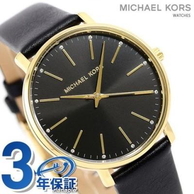 マイケルコース 時計 レディース パイパー 38mm MK2747 MICHAEL KORS 腕時計 ブラック 革ベルト