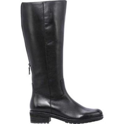 ガボール Gabor レディース ブーツ ロングブーツ シューズ・靴 91-615 Knee High Boot Black Foulard Leather