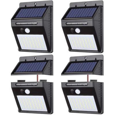 【 4個セット】ソーラーライト 人感センサー パネル分離 センサーライト 三つ点灯モード パネル分離可能 高輝度 太陽光発電 配線不要 防犯 防水