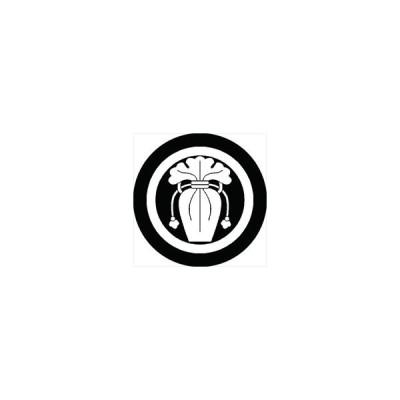 家紋シール 丸に瓶子紋 直径15cm 丸型 白紋 KS15M-0745W