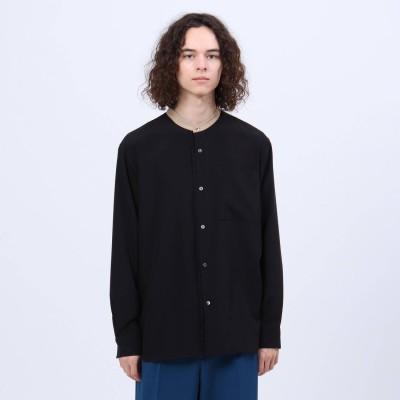 ティーケー タケオ キクチ tk.TAKEO KIKUCHI ライトサテンバンドカラークレリックシャツ (ブラック)