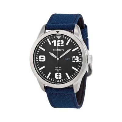 腕時計 セイコー Seiko ソーラー ブルー ダイヤル ブルー ナイロン メンズ 腕時計 SNE329