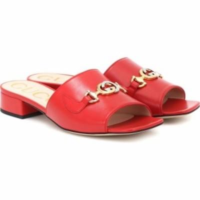 グッチ Gucci レディース サンダル・ミュール シューズ・靴 Zumi leather sandals Heron Red
