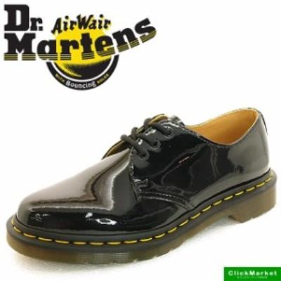 [送料無料]ドクターマーチン Dr.Martens CORE 1461 コア 10084001 黒 3 EYE SHOE イエローステッチ パテント レディース
