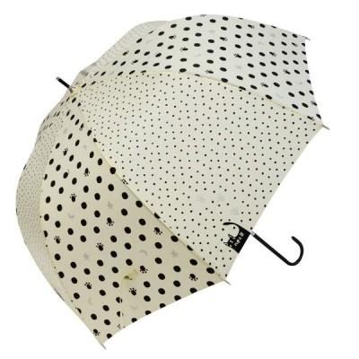 マーブドロップ 長傘 シルバーラメ入りデザイン ツインドット オフホワイト 60cm