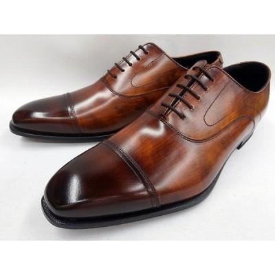 リーガル REGAL 靴 メンズ バルモラルストレートチップ 21UR(ブラウン)