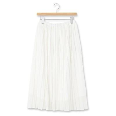 ◆レースプリーツスカート