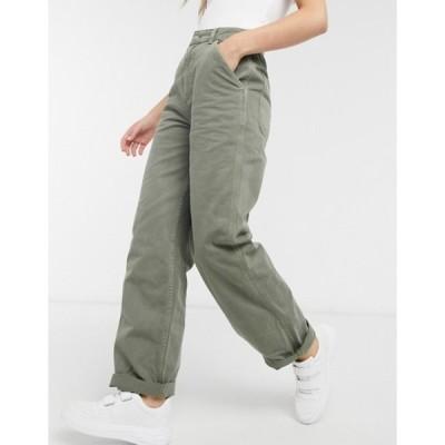 エイソス レディース カジュアルパンツ ボトムス ASOS DESIGN slouchy chino pants in khaki