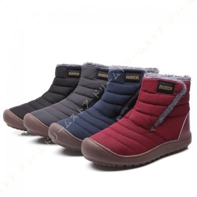 スノーブーツ メンズ ショート ブーツ スノーシューズ 防水 防寒 防滑 保暖 裏起毛 冬用 カジュアル 綿靴 雪靴 ブーツ メンズ スニーカー ボアシューズ 冬靴