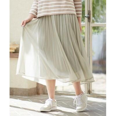 any SiS/エニィスィス 【洗える】ブライトシアープリーツ スカート スモーキーミント 1