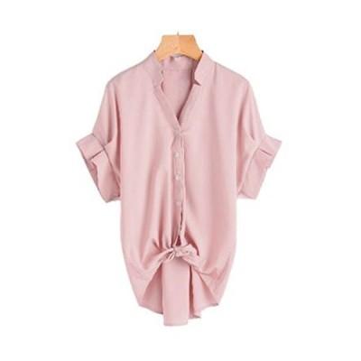 [ニブンノイチスタイル] 1/2style 半袖 五分袖 5分袖 vネック レディース 女性 女 おんな レデイース 夏物 可愛い ?