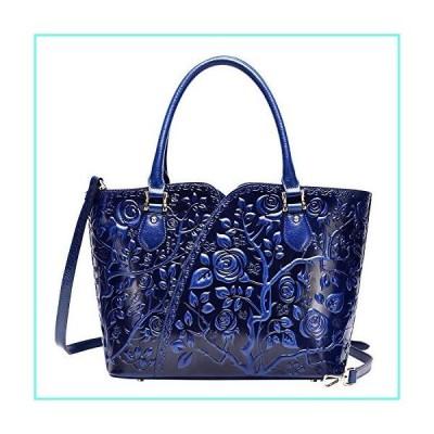 PIJUSHI Designer Handbags For Women Floral Purses Top Handle Handbags Satchel Bags (22328 blue)並行輸入品
