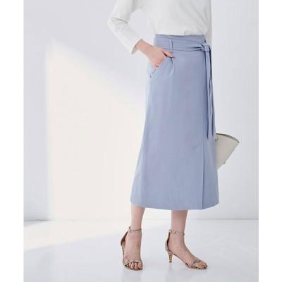 ユアーズ ur's ラップ調タイトスカート (ブルー)
