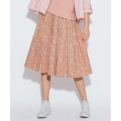 スカート WO92 JUPE メッセージタックギャザースカート