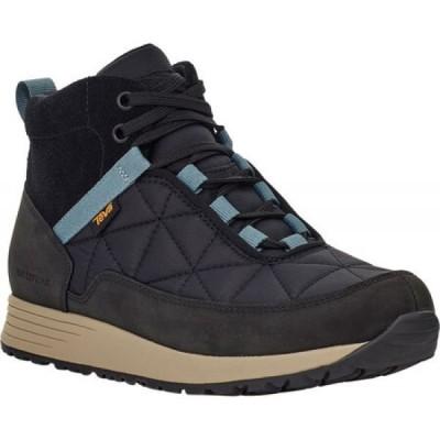 テバ Teva レディース ブーツ シューズ・靴 Ember Commute Waterproof Boot Black/Grey Leather/Recycled Polyester