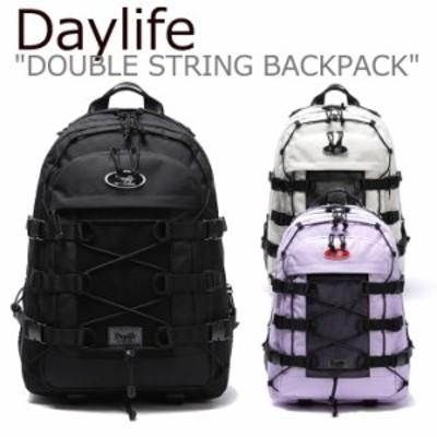 デイライフ リュック Daylife DOUBLE STRING BACKPACK ダブル ストリング バックパック BLACK IVORY PURPLE 2460905/6/7 バッグ