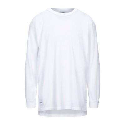 WTAPS® スウェットシャツ ホワイト 3 コットン 100% スウェットシャツ