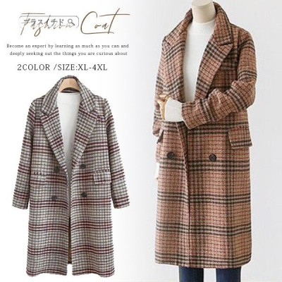 トレンチコート レディース 新作 中綿コート アウター ロング コート ロングコート 大きいサイズ 秋冬 千鳥柄