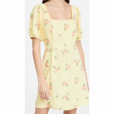 グラマラス Glamorous レディース ワンピース ミニ丈 ワンピース・ドレス Floral Mini Dress Yellow Stripe Flower
