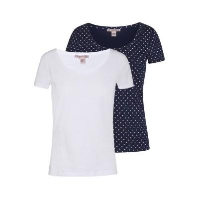 アンナフィールド Tシャツ レディース トップス 2ER PACK  - Print T-shirt - navy/white