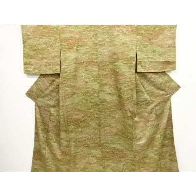 宗sou 霞に花古典柄暈し小紋着物【リサイクル】【着】