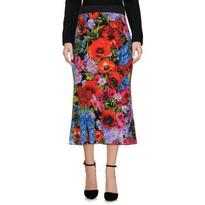 ドルチェ & ガッバーナ DOLCE & GABBANA 7分丈スカート レッド 36 シルク 94% / ポリウレタン 6% 7分丈スカート