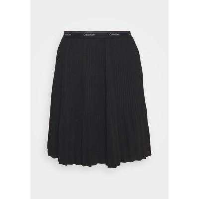 カルバンクライン スカート レディース ボトムス SHORT MICRO PLEAT SKIRT - Mini skirt - black