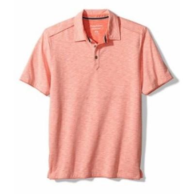 トッミーバハマ メンズ シャツ トップス Fray Day Harbor Short-Sleeve Polo Shirt Ember Red