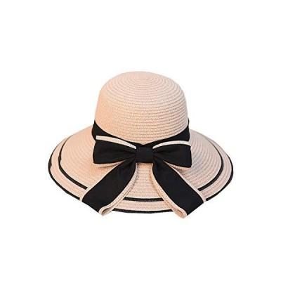N2 storm(エヌツーストーム) レディース 麦わら 帽子 ハット リボン 紫外線 UV防止 おしゃれ かわいい 春夏 BO37 (Eピ