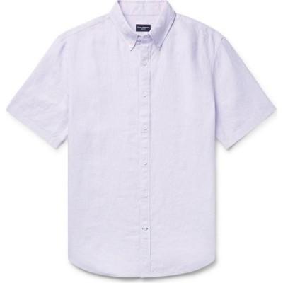 クラブ モナコ CLUB MONACO メンズ シャツ トップス linen shirt Lilac