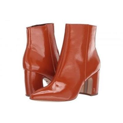 Sam Edelman サムエデルマン レディース 女性用 シューズ 靴 ブーツ アンクルブーツ ショート Hilty 2 - Tawny Brown Goat Crinkle Patent Leather