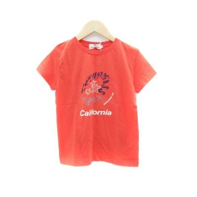 【中古】未使用品 リーバイス レディースタイル Tシャツ カットソー 半袖 ラウンドネック プリント S オレンジ /SM3 レディース 【ベクトル 古着】