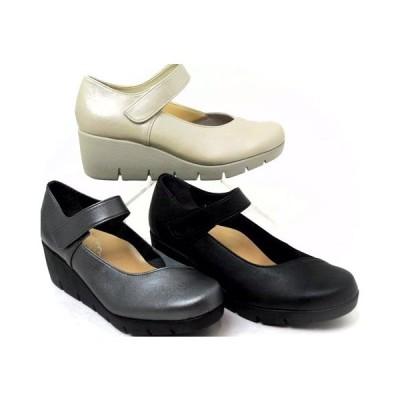 レディース パンプス 39616 日本製 痛くない 外反母趾 抗菌 消臭 ウエッジソール 歩きやすい 厚底 母の日 プレゼント
