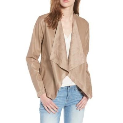 ビービーダコタ レディース ジャケット&ブルゾン アウター Teagan Reversible Faux Leather Drape Front Jacket CHURRO