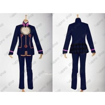 ジョジョの奇妙な冒険 ジョルノ.ジョバーナ  風  紺色系 コスプレ衣装 完全オーダーメイドも対応可能