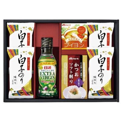 敬老の日 日清オリーブオイル詰合せギフト OL-25 ( オリーブオイル 油 オイル 焼海苔 詰合せ ギフト セット ) tri-T163-022