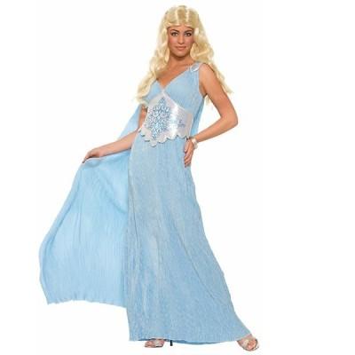 衣装 エレガント クイーンドレス コスチューム 大人用 ブルー