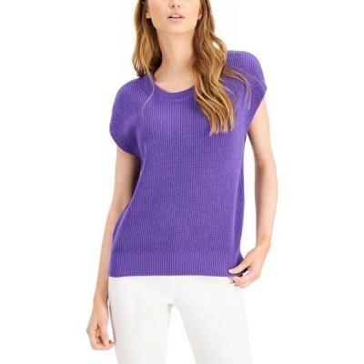 アルファニ Alfani レディース ニット・セーター トップス Cap-Sleeve Sweater Spicy Purple