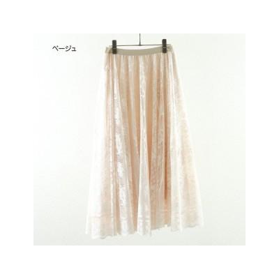 キャリア】春  レースフレアーAラインスカート m101123