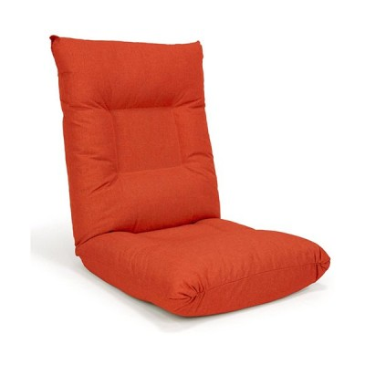 hiroplans フリーロック14段リクライニング座椅子 FRグレース/grace-org オレンジ