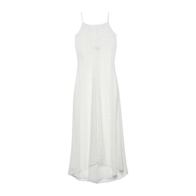 エンポリオ アルマーニ EMPORIO ARMANI ロングワンピース&ドレス ホワイト 44 ポリエステル 100% ロングワンピース&ドレス