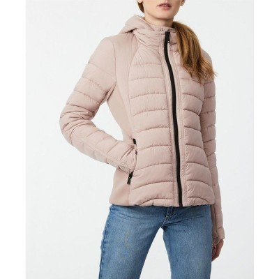 ベルナルド コート アウター レディース EcoPlume Bibbed Packable Puffer Coat Petal Pink