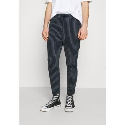 デニムプロジェクト メンズ ファッション PANTS CROPPED - Trousers - dark navy/white