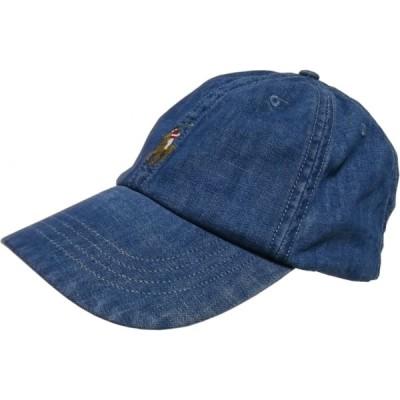 ポロ ラルフローレン ワンポイント キャップ 帽子 ブルーデニム メンズ Polo Ralph Lauren 492