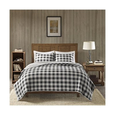Woolrich 100% Cotton Quilt Reversible Plaid Cabin Lifestyle Design - All Season, Breathable Coverlet Bedspread Bedding Set, Matching Shams,